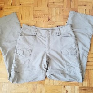 The North Face Beige Outdoor Nylon Pants, 8